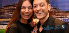 مسوت اوزیل و دخترش ادا با همسر مدلش امینه گولشه