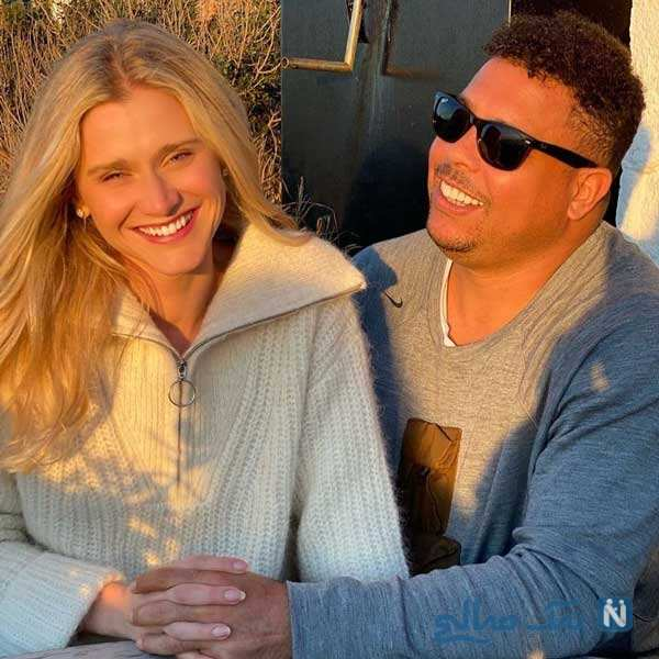 رونالدو برزیلی و همسرش