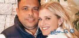 فوتبالیست مشهور رونالدو برزیلی و همسرش را ببینید