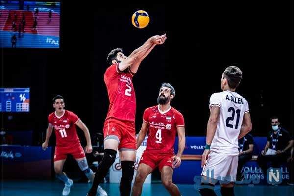 دیدار والیبال ایران و آمریکا
