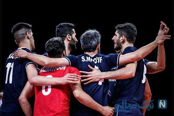 دیدار والیبال ایران و آمریکا پرمعناترین تصاویر از تشویق آمریکایی ها
