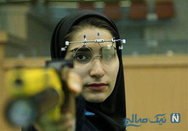 عکس های هانیه رستمیان پرچمدار زن کاروان ایران در المپیک