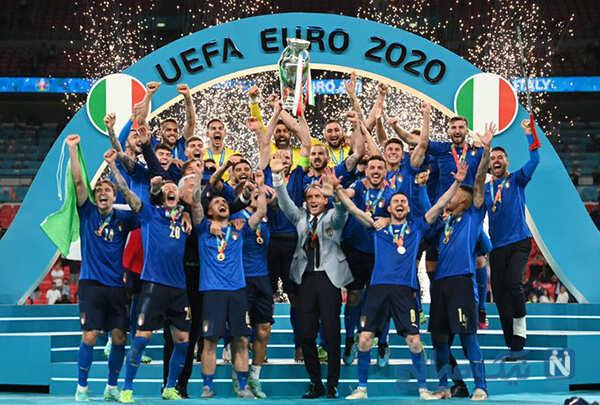 جشن قهرمانی ایتالیا به روایت تصویر در یورو ۲۰۲۰