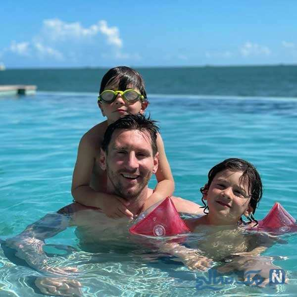 لیونل مسی و پسرهایش