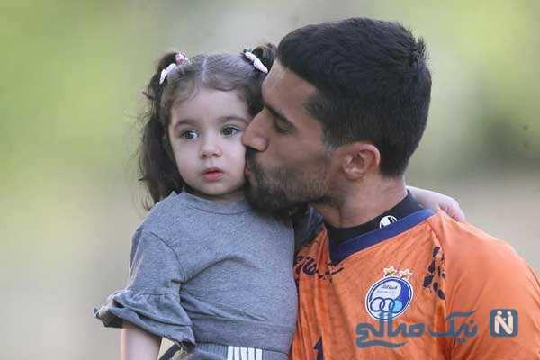 سید حسین حسینی با دخترش