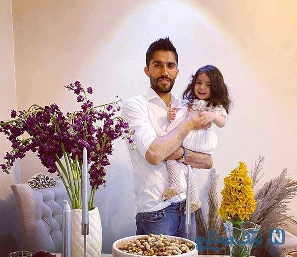 سید حسین حسینی با دخترش مانلی مهمان زیبای تمرین استقلال
