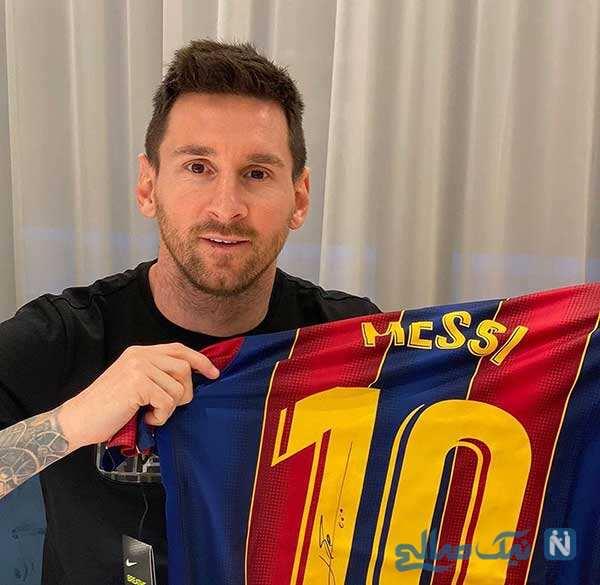 خداحافظی لیونل مسی و اشک های او در وداع با بارسلونا