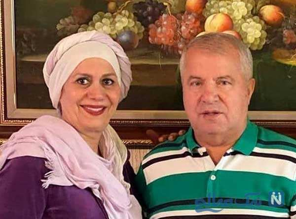 جشن سالگرد ازدواج علی پروین و همسرش در کنار دخترانش