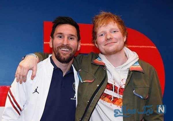دیدار لیونل مسی و دوستانش در رختکن کهکشانی ها با خواننده معروف
