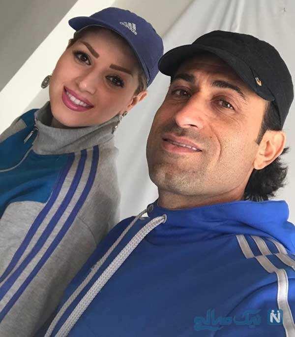 مهدی رجب زاده و همسرش