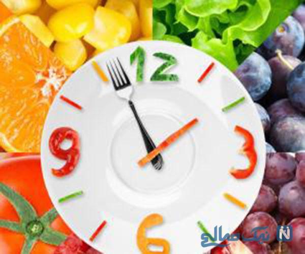 کم خوردن غذا برای لاغری