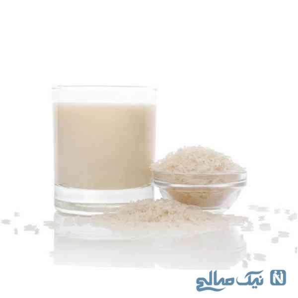 پوست زیبا با شیر برنج