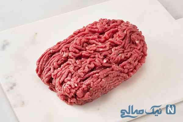 گوشت چرخ کرده در فریزر