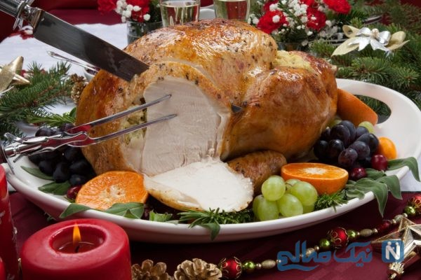 گوشت مرغ یا بوقلمون