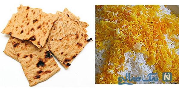 برای لاغری نان بخوریم یا برنج؟