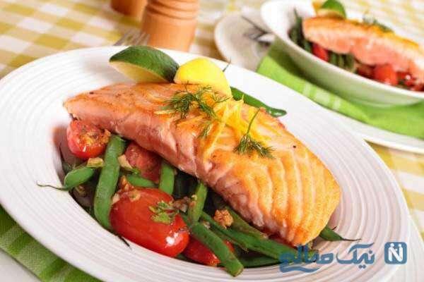 مصرف ماهی سالمون