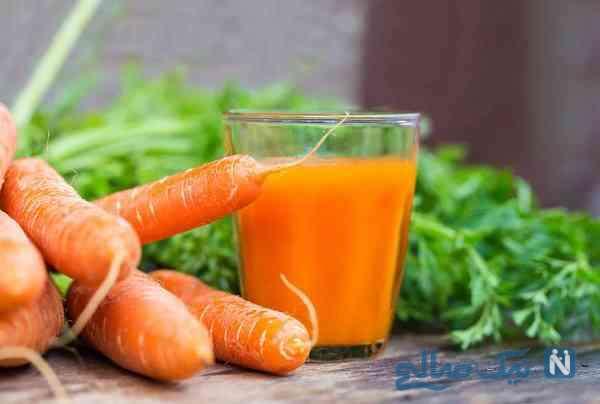آب هویج چاق کننده