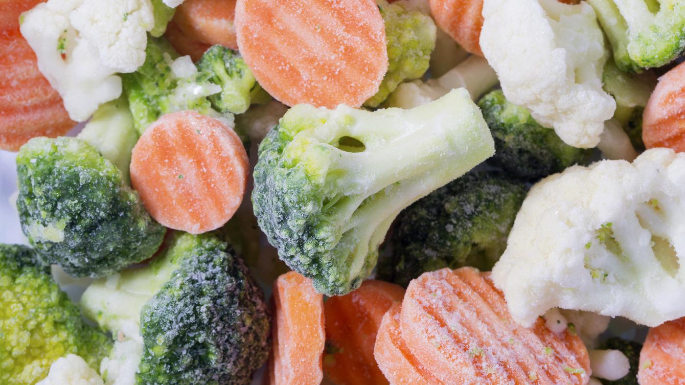 استفاده از سبزیجات و میوه جات منجمد