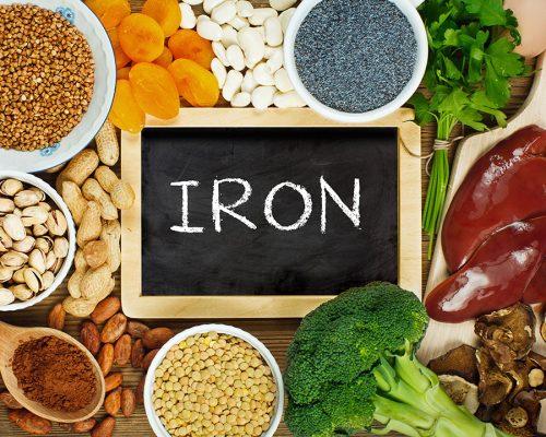 آهن موجود در مواد غذایی