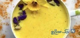 شیر زردچوبه درمان معجزه آسای سرفه و گلودرد