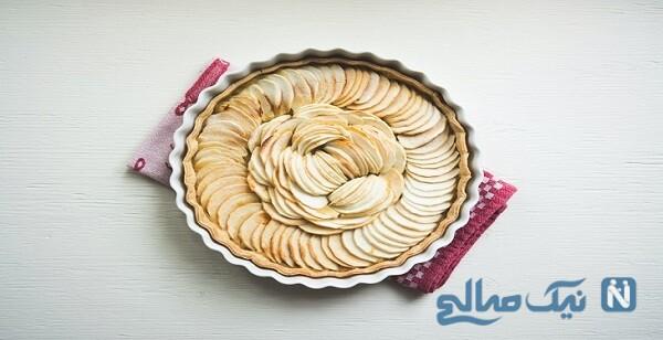 کیک سیب و دارچین برای عصرانه