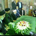 حضور حسن روحانی و سیدحسن خمینی بر سر مزار هاشمی