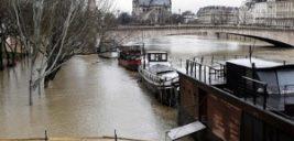 وقوع سیل در پاریس