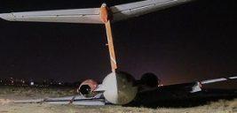 تصاویری از خارج شدن هواپیما از باند فرودگاه مشهد