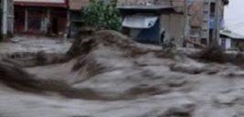 صحنه دلخراش مرگ سرنشینان یک پژو ۲۰۶ در سیل زنجان را ببینید