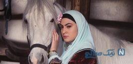 عکس عجیب مریم مومن بازیگر سریال بانوی عمارت در بیابان