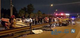تصادف هولناک دو خودروی ۲۰۶ در بزرگراه امام علی(ع) + تصاویر