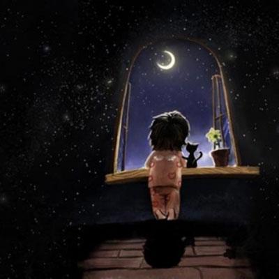 پیامک احساسی شب بخیر گفتن