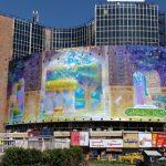 دیوارنگاره جدید میدان ولیعصر به مناسبت هفته کرامت