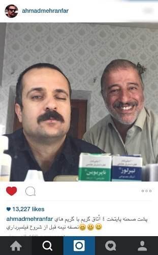 ارسطو و بابا پنجعلی در پشت صحنه پایتخت۴ +عکس