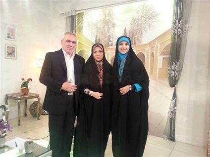 عکس: فتحاللهزاده با دخترش ومجری سیما