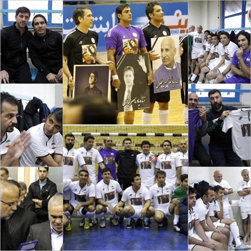 مسابقه فوتبال به یاد زنده یاد پاشایی،حجازی، مجید بهرامی ومظلومی +عکس