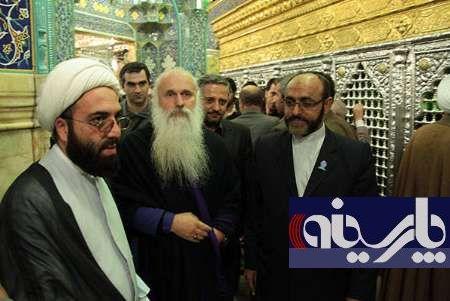 رهبر مسیحیان گرجستان درحرم حضرت معصومه (س) +عکس