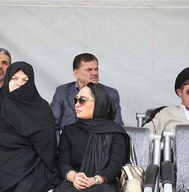 حضور الهام حمیدی در مراسم تشییع همسر شهید بابایی!+تصاویر