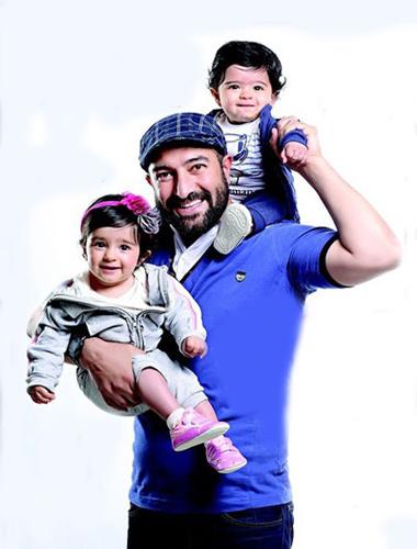 حکایت مجید صالحی و دوقلوهای بانمکش+عکس