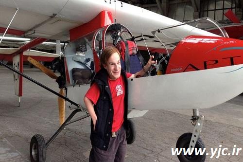 کوتاهترین خلبان جهان +عکس