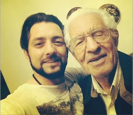 عکس سلفی بهرام رادان و پدرش