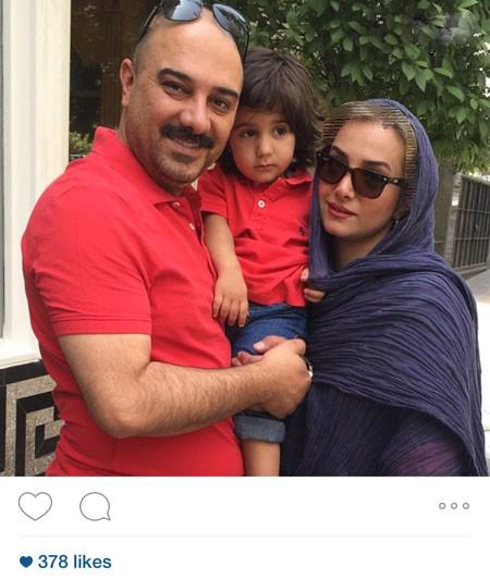 برزو ارجمند در کنار همسر و پسرش جانیار+عکس