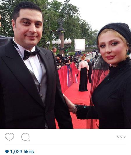 نیوشا ضیغمی و همسرش در مسکوی روسیه+عکس