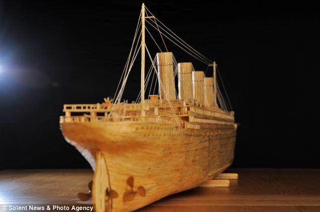 تایتانیکی از ۱۲۰ هزار چوب کبریت / گزارش تصویری