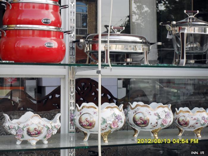 تصاویر جالب مغازه بلور فروشی در زرقان بعد از زلزله