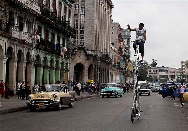 بلندترین دوچرخه جهان + عکس