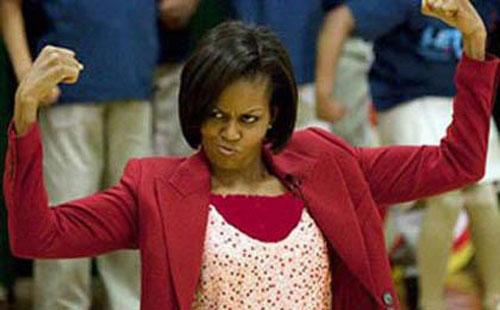سوء استفاده انتخاباتی از اندام همسر اوباما + عکس