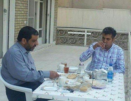 عادل فردوسی پور از ورزش کردن تا صبحانه خوردن با ضرغامی!+تصاویر