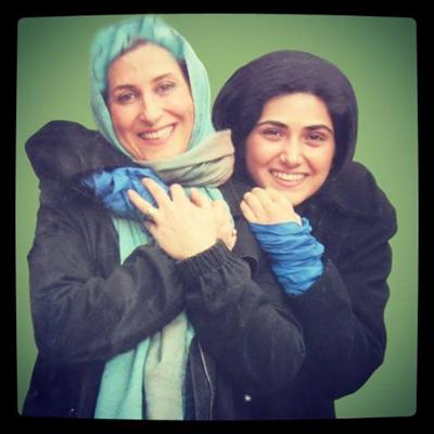 عکس یادگاری باران کوثری با فاطمه معتمدآریا