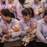 آموزش بچه داری برای بهبود کیفیت این کار در دانشگاه پکن!+تصاویر